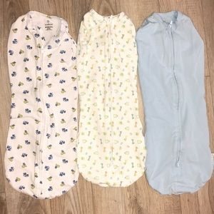 3 swaddle me pods NB